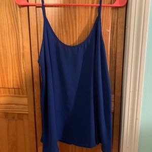 Royal blue rayon tank top from kohl's.